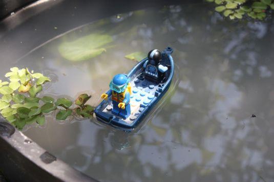 Deko im Teich