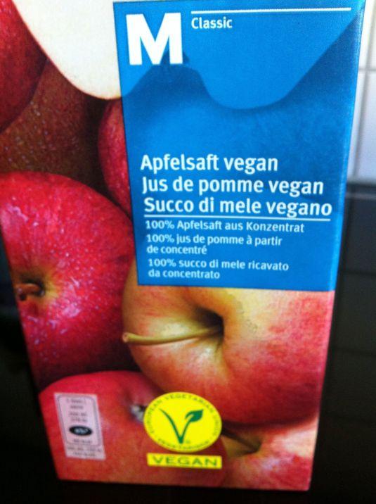 Apfelsaft vegan