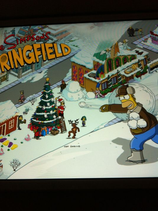 Simpsons Schnee